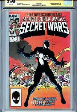 Marvel Super Heroes Secret Wars 8 Cgc 9.8 Ss Stan Lee 1er Symbiote Venom X-men
