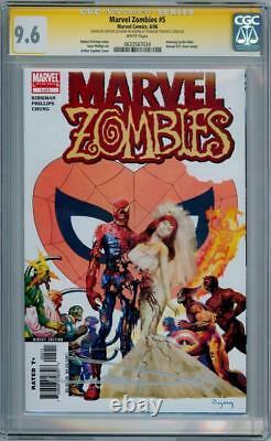 Marvel Zombies #5 Cgc 9.6 Série Signature Signée Arthur Suydam Spider-man