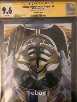 Mighty Morphin Power Rangers #0 Cgc 9.6 Signature Series White Ranger Variante