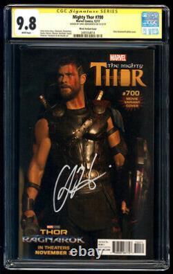 Mighty Thor #700 Movie Photo Variante Ss Cgc 9.8 Chris Hemsworth Signature Series