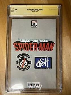Miles Morales Spider-man 25 Greg Horn Rookie Card Cgc 9.8 Série De Signatures