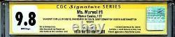 Mme Marvel Vol 1 1 Cgc 9.8 Ss X4 Stan Lee Romita Sinnott 1er Carol Danvers Wp