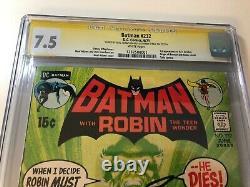 Première Ras Al Ghul Dans Batman #232 Cgc 7.5 Signature Series X 2 Adams & Oneil