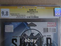 Quake Shield 50e Anniversaire #1 Cgc Série De Signature 9,8 Chloé Bennet