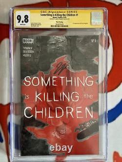 Quelque Chose Tue Les Enfants #1 3e Impression Cgc 9.8 Série Signature Ss