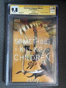 Quelque Chose Tue Les Enfants #1 4e Imprimer Cgc 9.8 Série De Signature Ss