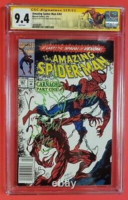 Série De Signatures De La Ccg Amazing Spider-man #361 Kiosque À Journaux 9.4 Marque Mark Bagley
