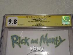 Série De Signatures De La Ccg Rick Et Morty #30 Sketch Signé Bad Morty Dan Harmon 9.8
