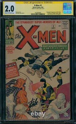 Série De Signatures Stan Lee De X-men 1 Cgc 2.0
