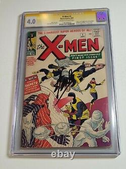Série De Signatures X-men #1 Cgc 4.0 Signée Par Stan Lee 1er X-men & Magneto 1963