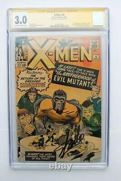 Série De Signatures X-men #4 Cgc 3.0 (marvel) Signée Stan Lee
