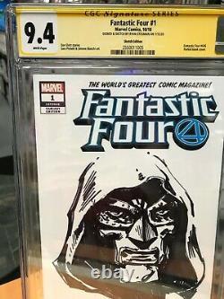 Signature Series Cgc 9.4 Fantastic Four 1 Ryan Stegman Doctor Doom Sketch