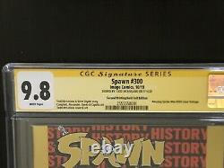 Signé Spawn #300 Feuille D'or Cgc 9.8 Ss Todd Mcfarlane Nycc Série Signature Nm