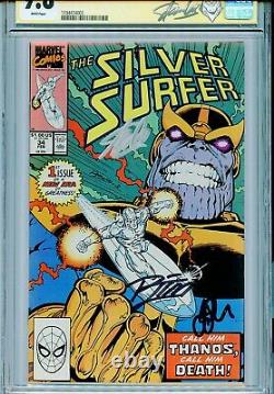 Silver Surfer Vol 3 34 Cgc 9.8 Ss X3 Stan Lee Ron LIM Jim Starlin Thanos Retour