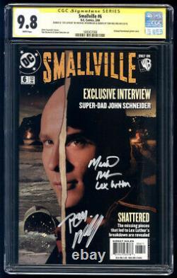 Smallville #6 Ss Cgc 9.8 Tom Welling & Michael Rosenbaum Série De Signature