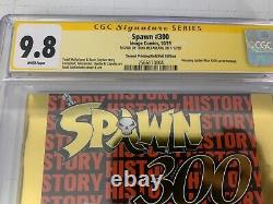 Spawn #300 Nycc Gold Foil Variante Cgc 9.8 Ss Signature Série Signée Mcfarlane