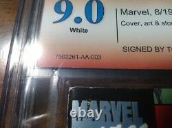 Spider-man #1 Platinum Cbcs 9.0 Série De Signatures Vérifiées (todd Mcfarlane)