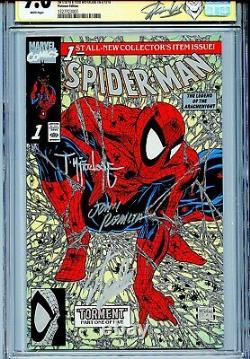 Spider-man 1990 1 Cgc 9.6 Ss X3 Platinum Variante Stan Lee Mcfarlane Romita Sr Wp