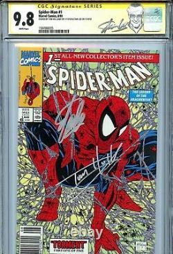 Spider-man 1990 1 Cgc 9.8 Ss X2 Variante Verte Couvrir Stan Lee Mcfarlane Holland