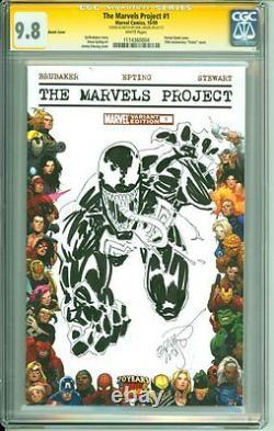 Spider-man Venom Couverture D'art Original Sketch Erik Larsen Cgc Signature Series 9.8