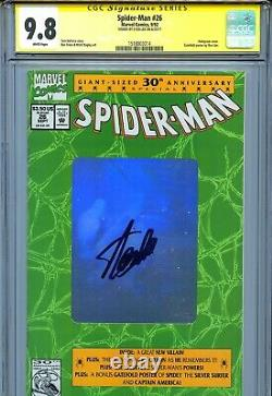 Spider-man Vol 1 26 Cgc 9.8 Ss 30th Anniversary Hologram Cover Stan Lee Bagley