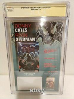 Spider-man/venom #1 Cgc 9,8 Ss 2x Cates & Stegman Free Comic Book Day