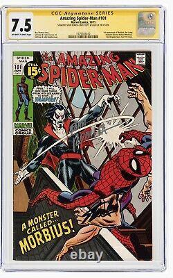 Spiderman Étonnant 101 Cgc Signature Series Stan Lee/romita