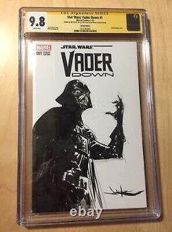 Star Wars Vader Down #1 Cgc 9.8 Darth Vader Sketch Signé Jae Lee Ss Star Wars
