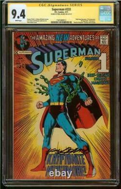 Superman #233 Cgc 9.4 Série De Signatures Signé Adams Neal Classic Cover