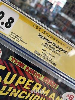 Superman Unchained #6 Cgc Ss 9.8 Signé Par Jim Lee! Série De Signatures
