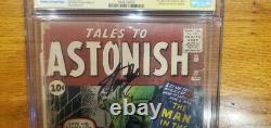 Tales To Astonish #27 1er Ant-man 01/62 Cgc 1.5 Ss Signature Series Stan Lee
