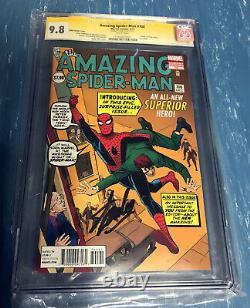 The Amazing Spider-man #700 Ditko Variant Signature Series Cgc 9.8 Stan Lee