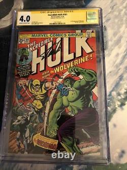 The Incredible Hulk 181 Cgc 4.0 Signature Series Stan Lee