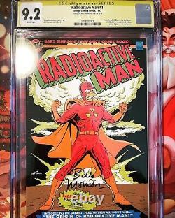 The Simpsons, Radioactive Man #1 Gitd Cover Bongo Comics Cgc Signature Series