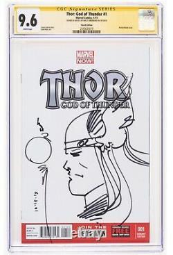 Thor God Of Thunder #1 Sketch Edition Par Walt Simonson Cgc Signature Series 9.6