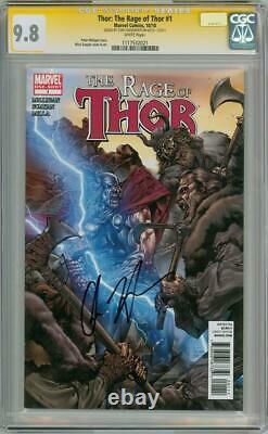 Thor Rage Of Thor #1 Cgc 9,8 Série De Signatures Signées Chris Hemsworth Film