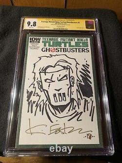 Tmnt Teenage Mutant Ninja Turtles Ghostbusters #2 Cgc 9.8 Série Signature Rare