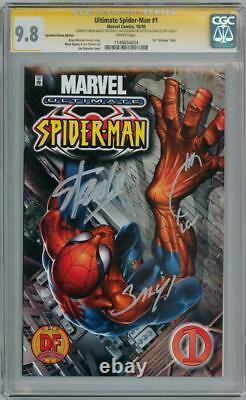 Ultimate Spider-man #1 Df Variant Cgc 9.8 Série De Signature Signée X3 Stan Lee