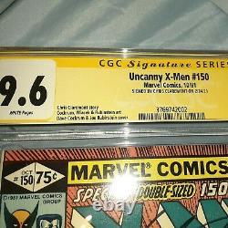 Uncanny X-men #150 Cgc Signature Series 9,6 Nm+ Signé Par Chris Claremont