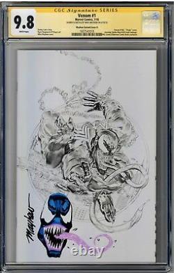 Venom #1 Cgc 9.8 Série Signature Signée Mike Mayhew Avec Couverture Venom Sketch D