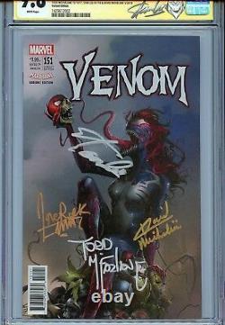 Venom 151 Cgc 9.8 Ss X4 Mattina Couverture Stan Lee Mcfarlane Michelinie Spider-man