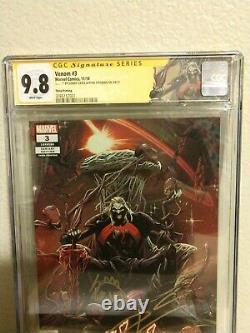 Venom 3 Troisième Tirage Cgc 9.8 Série De Signatures Signées Cates Et Stegman. 1er Knull