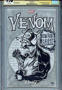 Venom Vol 3 1 Cgc 9.8 Ss X3 Couverture Sketch Mcfarlane Bagley Lovato Art Original