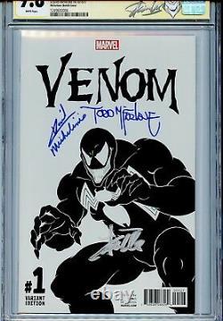 Venom Vol 3 1 Cgc 9.8 Ss X3 Todd Mcfarlane Croquis Stan Lee Michelinie Spider-man