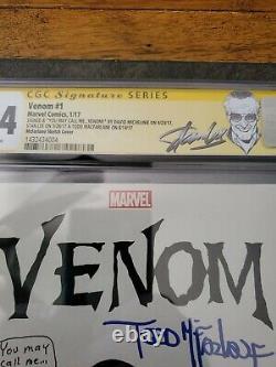 Vénus 1 Cgc 9.4 Ss X3 Todd Mcfarlane Sig & Sketch Stan Lee Michelinie Spider-man