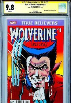 Vrai Croyants Wolverine 1 Cgc 9.8 Ss X2 Stan Lee Len Wein Miller Claremont Wp
