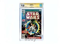 Vtg Star Wars #1 (juillet 1977, Marvel) Cgc Signature Series Roy Thomas