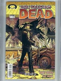 Walking Dead 1 Cgc 9.4 Ss X2 1er Tirage Robert Kirkman Tony Moore Amc Zombies 2 3