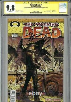 Walking Dead 1 Cgc 9.8 Ss X2 1ère Impression Robert Kirkman Tony Moore Amc Zombies 2 3