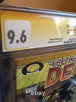 Walking Dead 1 First Print Cgc 9.6 Signature Series Signé Tony Moore 10/03